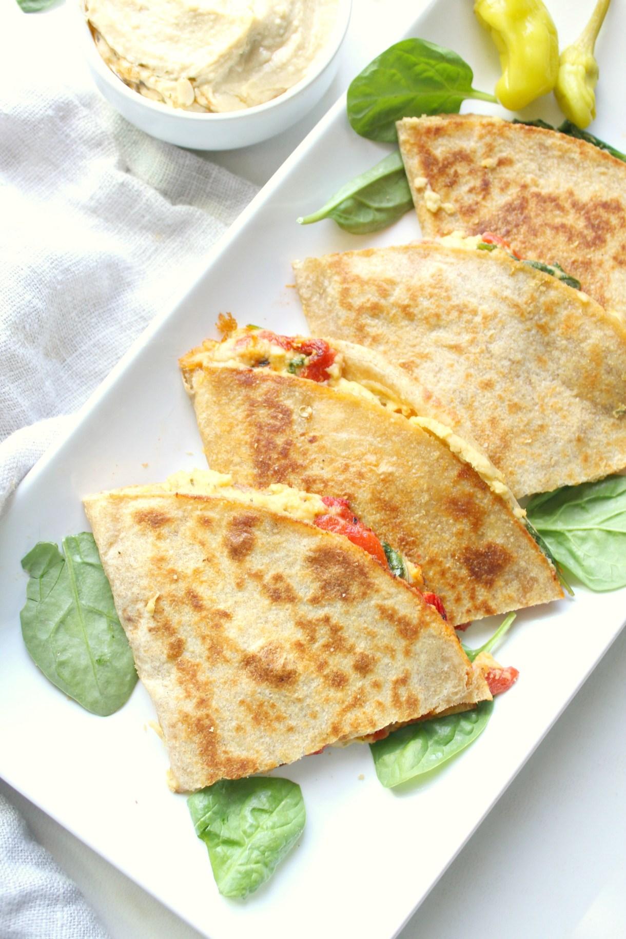 vegan-hummus-quesadillas