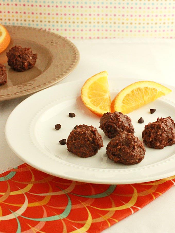 orange chocolate truffle bites no bake keto dessert